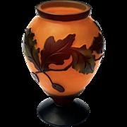 Vintage Cameo Art Glass Vase