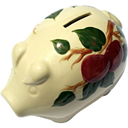 Vintage Franciscan Pottery Apple Piggy Bank
