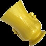 Mid-Century Vintage McCoy Pottery Yellow Vase