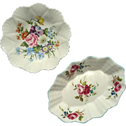 Set Of Two Shelley English Bone China Floral Nut Or Mint Dishes