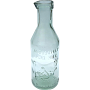 Large Antique Absolutely Pure Milk Bottle
