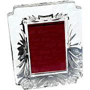 Waterford Crystal With Love Picture Frame