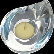 Vintage Orrefors Crystal Candle Votive Holder