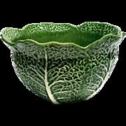 Large Vintage Portuguese Majolica Cabbage Bowl