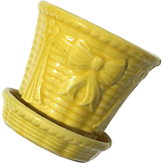 Vintage Yellow McCoy Pottery Planter Flower Pot