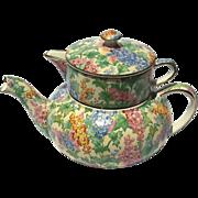 Chintz Mini Teapot Stacking Set In Somerset By Royal Winton