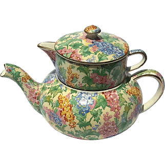 Chintz Mini Teapot Stacking Set In Somerset By Royal Winton