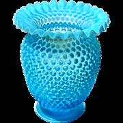 Vintage Fenton Large Hobnail Glass Vase
