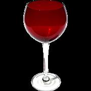 Set Of Ten Signed Lenox Red Balloon Wine Glasses