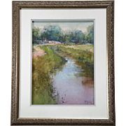 Richard McKinley Signed Original Pastel Painting