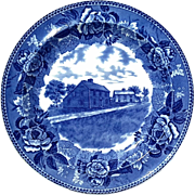 Antique Wedgwood Blue & White Transferware Plate