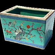 Antique Chinese Famille Verte Porcelain Planter