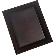Large Ralph Lauren Suede Picture Frame With Leather Back And Easel