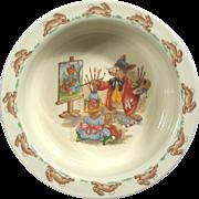 Vintage Royal Doulton Bunnykins Porcelain Child's Bowl