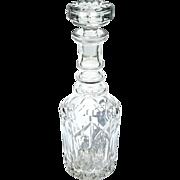 Vintage Cut Crystal Liquor Decanter