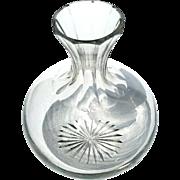 Antique Crystal Wine Bottle Decanter