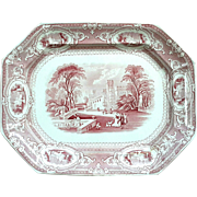 19th Century Staffordshire Challinor Transferware Corinthia Pattern Platter