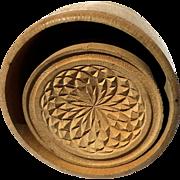 Antique Primitive Wooden Butter Mold