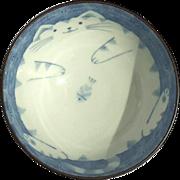 Kotobuki Porcelain Fat Cat Rice Bowl
