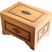 Antique Marquetry Inlaid Wood Box