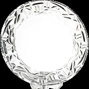 "Tiffany & Co Rock Cut 10"" Crystal Dinner Plate"