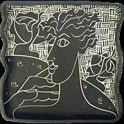 Signed Mia Tyson Art Pottery Tray