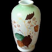 Antique Floral Painted Bristol Glass Vase