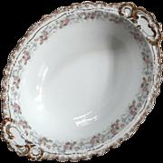 Antique Jean Pouyat French Limoges Porcelain Oval Bowl