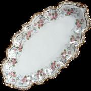 Antique Jean Pouyat French Limoges Porcelain Bonbon Dish