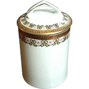 Antique Austrian Porcelain Lidded Condensed Milk Jar