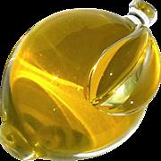 Vintage Italian Venetian Murano Glass Lemon