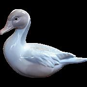 Vintage Signed Lladro Spanish Porcelain Duck