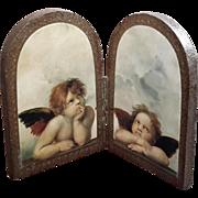 Vintage Italian Florentine Gilt Wood Angels