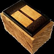 Mid-Century Modern Artist Signed Wood Box