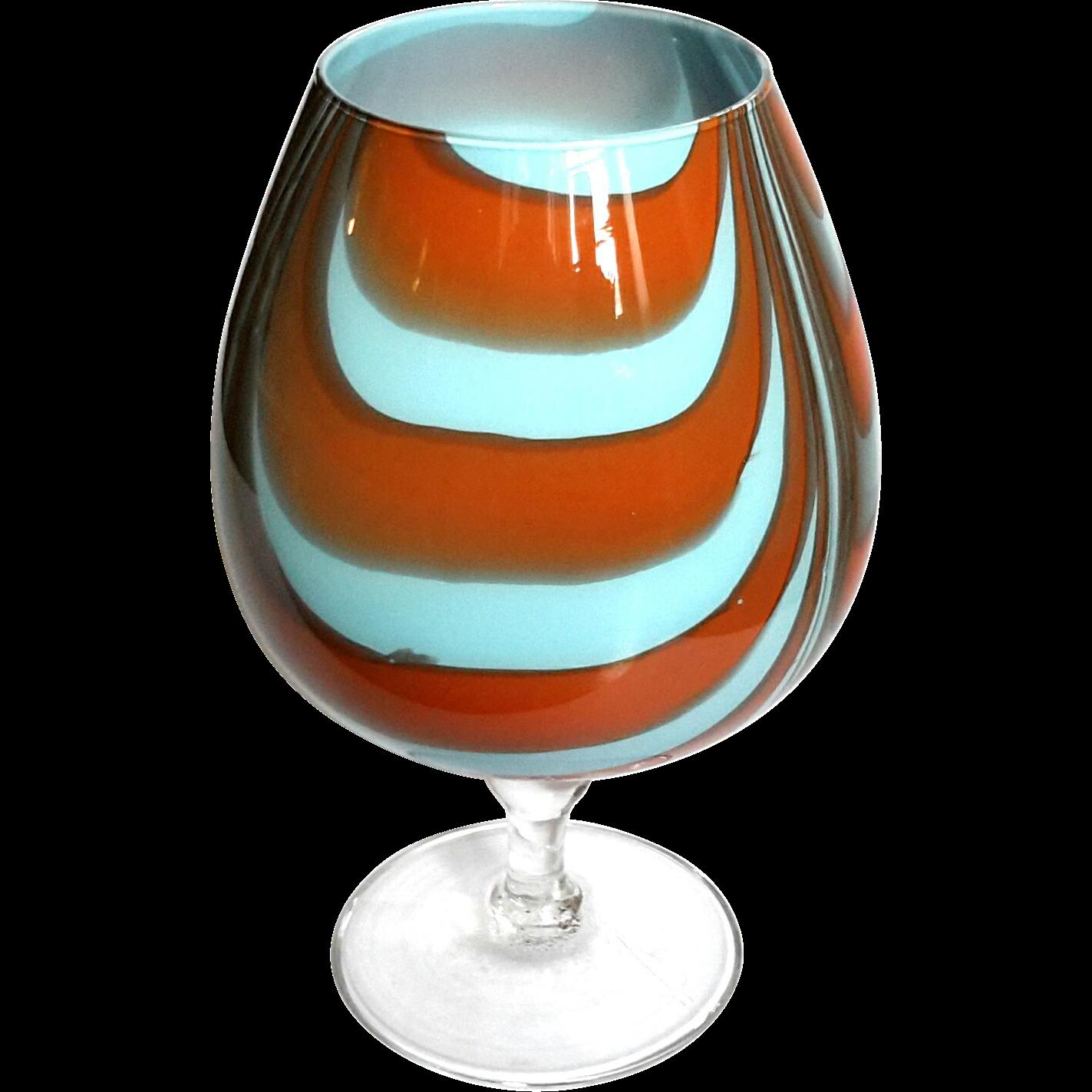 vintage venetian murano glass pedestal bowl from stephenakramer on ruby lane. Black Bedroom Furniture Sets. Home Design Ideas