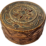 Antique Italian Florentine Gilt Wood Round Box