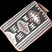 Vintage Kilim Rug And Leather Briefcase Laptop Tablet Case