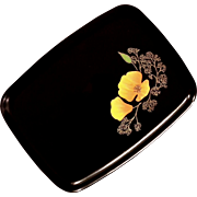 Vintage Couroc Of Monterey Buttercup Flower Tray