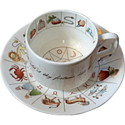 Royal Kendal Bone China Fortune Telling Zodiac Cup And Saucer