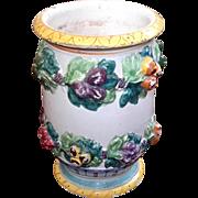 Antique Italian Deruta Majolica Pottery Wine Cooler