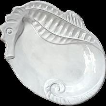 Vietri Incanto Mare White Seahorse Tray