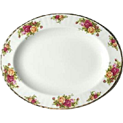 Vintage Royal Albert Old Country Roses Oval Serving Platter