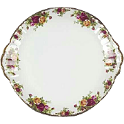 Royal Albert Old Country Roses Large Handled Cake Plate