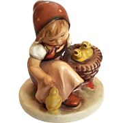 Hummel Girl With Chicks Figurine Incised Mark