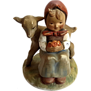 Hummel Girl With Lamb Good Friends Figurine