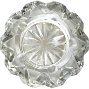 Vintage Hand-Cut Crystal Ashtray