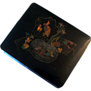 19th Century Chinoiserie Black Lacquer Box