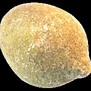 Antique Italian Alabaster Stone Fruit Ponderosa Lemon, Circa 1900