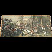 19 Century Framed & Hand-Colored Civil War Engraving