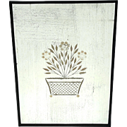 19th Century Reverse Etched Floral Mirror, Circa 1890